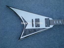 Guitares jacks en Ligne-Vente en gros- Livraison gratuite wholsale NOUVEAU guitarra jack guitar / flying V white oem guitare / guitare électrique en Chine