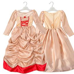 Promotion nouvelles robes de filles de noël Nouveau 2017 Kids Girl Beauté cosplay costume de carnaval et costume de fille belle princesse robe pour Noël Halloween Dress For Girls