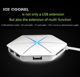 Plug and play USB 3.0 High speed splitter Laptop expansion interface otg Hubs TF+SD Card reader
