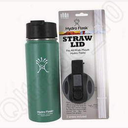 Wholesale Hydro Flask Wide Mouth Straw Lid for Hydro Flask Vacuum Insulated oz oz oz oz Stainless Steel Water Bottle Lid CCA5568 set