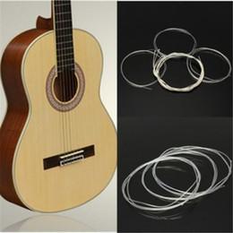 2017 guitarra acústica de nylon 6 PC / set La guitarra encadena la luz estupenda de plata del juego de la galjanoplastia de plata para los accesorios clásicos de las piezas de la guitarra acústica guitarra acústica de nylon outlet