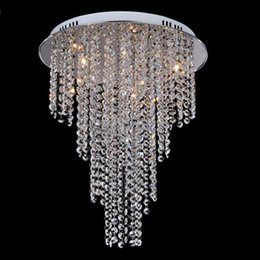 New Arrival Modern Crystal Chandelier Light Contemporary Crystal Ceiling Light Lamps 8 Light G4 Bulb Included Living Room Lighting 110V-240V