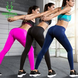 Canada Women Gym Clothing Sport Fitness Leggings Running Yoga Pants Quick Drying Respirant Stretch Sexy Hip Push Up Compression Pants Offre
