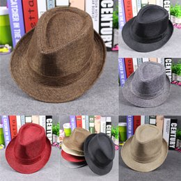 Whosales Spring Autumn Men Women Fedora Hats Soft Outdoor Stingy Brim Caps Adult Fashion Street Jazz Cap Top Hats GH-62