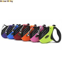 (10 Pieces lot) Hot Sale ABS 5M 6 Colors Automatic Retractable Leashes for Meidum Big Large Dog Pets