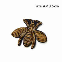 Wholesale High Quality fly Patch Indina Silk fly Cute fly Embroidered Patch Iron on Patch Sewing on Applique Embroidered Patch for Garment
