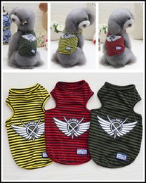 2017 Latest Fashion Design Summer Pet Stripe Vests Dog Clothing Apparel for Small Puppy Wholesale
