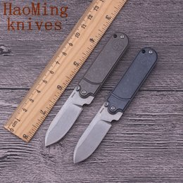 Mini camping survival hunting knives S35VN blade titanium handle pocket folding knife key chains EDC tactical OEM outdoor Diving fighting to