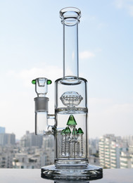 Big Glass Water Bong Green Tree Dab Rigs Thick Concentrate Oil Rigs Colorful Glass Bongs Heady Glass Dab Rigs Free Shipping