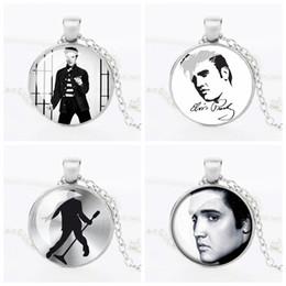 Wholesale Retail Vintage Elvis Presley Picture Pendant Necklace The King of Rock Art Jewelry Gift Elvis Presley Necklaces