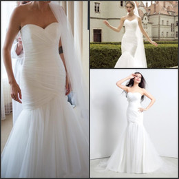 Wholesale Chic Cheap Garden Mermaid Wedding Dresses Sweetheart Ruched Real Image Vestido De Novia Only Bridal Gowns In Stock CPS124
