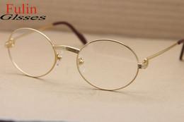 Men s round eyeglass frames en Línea-Los vidrios redondos de calidad superior de la miopía de los anteojos del marco 1168111 enmarcan el tamaño de la vendimia de los hombres: 55-21-135m m envío libre