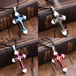 New Unisex's Men Women Stainless Steel Cross Pendant Necklace Chain Jewelry Gift - Randomly Send