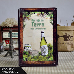 Wholesale beer Metal Tin Signs Wall art craft Iron Retro metal painting Tin Signs x30cm Plaques Mural wall pictures W