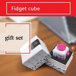 Wholesale 11 color Newest Fidget cube dull polish best quatity with gift package the first American decompression anxiety Toys black case