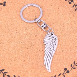 New Fashion left wings Keychains Vintage Antique Silver plated Keyholder fashion Solid Pendant Keyring gift