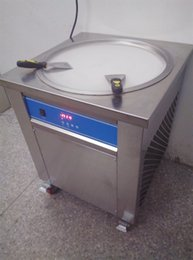 Wholesale smart Thai fried ice cream roll machine single cm pan fry pan ice cream rolled juice yoghourt maker v v