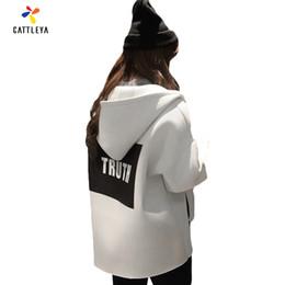 Grossiste Femmes Grandes Tailles Loose 2017 Automne Femme Veste 3D Impression Coréenne Style Longue Manche Show Slim Hoodies Uniforme De Baseball à partir de coton ouaté korean veste de baseball fabricateur