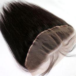 "Brazilian Hair Lace Frontal Peruvian Indian Mongolian Malaysian Human Hair Silky Straight Unprocessed Cuticle 13""x4"" Hair Lace Frontal"