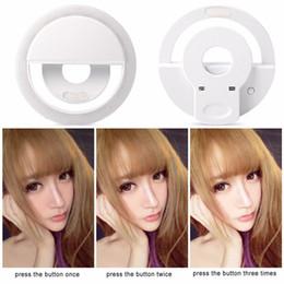 Wholesale Universal LED Photography Flash Light Up Selfie Luminous Lamp Night Phone Ring For iPhone SE S Plus LG Samsung HTC LG