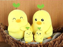Wholesale 2016 New Cute Plush Doll Plush Chicken with Grass quot Yellow Lovely Figure Plush Toys for Girl Children Best Birthday Gift
