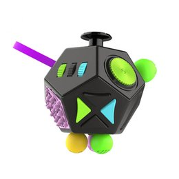 The Second Generation Fidget Cube The World's First American Original Decompression Anxiety Toys 12 Surfaces Adults Cube CCA5459 100pcs