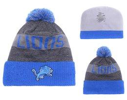 Wholesale newst Lions Football Beanies Team Hat Winter Caps Popular Detroit Beanie Caps Skull Caps Best Quality Warm Adult Sports Caps