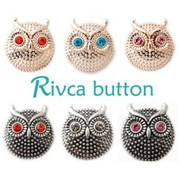 D00208 Rivca Snaps Button Jewelry Hot wholesale High quality Mix styles 18mm Metal Ginger Snap Button Charm Rhinestone Styles NOOSA chunk
