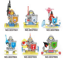 Wholesale Elemental Knight Building Blocks Figures Set Cartoon Bricks figure for Kids Toys