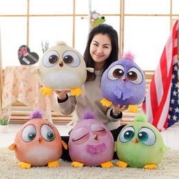Wholesale Lint Toys Anger Real Five Color Birdie Doll New Pattern Lovely Lint Colourful Chick Mascot Gift Customized