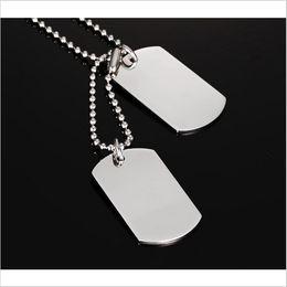 Alto acero inoxidable pulido en venta-Collar de Perro Tag de acero inoxidable Collar clásico de moda hombres Collar de alta pulido PN-385