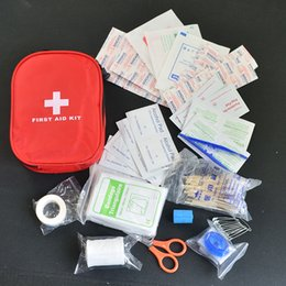 Wholesale 120pcs pack Safe Camping Hiking Car First Aid Kit Medical Emergency Kit Treatment Pack Outdoor Wilderness Survival