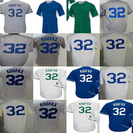 Los angeles 32 Sandy Koufax 2017 Postseason WS Patch Adult Female Youth Throwback Celtic cool flex baseball jerseys  t-shirts White Navy