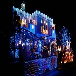 Promotion rgb led net Saint-Valentin Thanksgiving vacances Halloween fabricants de vente de lumières de Noël 1M * 1M 96LED lampe chaîne de lampe en forme de filet sur 110V queue l
