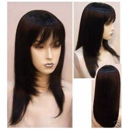 New Fashion Long Pretty Black Straight Wig Hair FREE SHIPPING