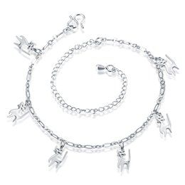 Dog-Shaped Pendant Ankelet New Famous Brand Ethnic Silver Plated Charm Anklets for Women Charms Foot Wholesale Jewelry