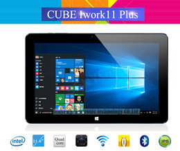 Ips tablet intel atom online-Venta al por mayor- Cubo Iwork11 Plus Windows10 Tablet PC 11.6 '' IPS 1920x1080 Intel Atom X5-Z8300 Quad Core 2.0MP + 5.0MP Cámara HDMI