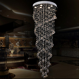 Chandeliers high class K9 crystal led ceiling crystal chandeliers lighting hanging lamp staircase hotel hall villa crystal lighting
