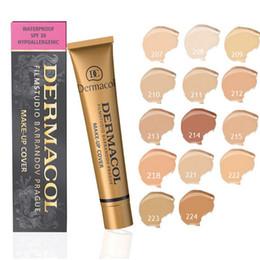 Wholesale Dermacol best concealer cover liquid foundation lasting color optional DC jin concealer