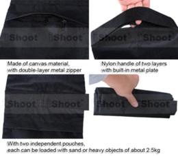 2017 éclairage de la rampe Noir Portable Counter-balance Poids sac de sable sac de sable sac pour caméra Tripod Photo Studio Flash Light bras de levier de stand en vente éclairage de la rampe à vendre