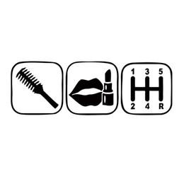 2017 fenêtres course Brosse Maquillage Shift Girl Lipstick Autocollant Drôle Car Personality Styling Jdm Course Car Window Vinyl Graphics Décalque Décor fenêtres course sortie
