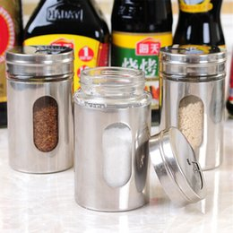 Wholesale Toothpick cup Spice Jar Bottle Storage Seasoning Spice Dispenser Container Shaker Kitchen salt and pepper shaker free shopping