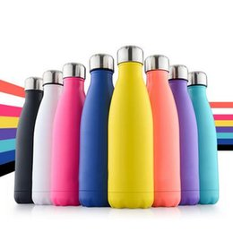 Wholesale newest Cola Shaped Insulated Double Wall Vacuum high luminance Water Bottle oz ml Creative Thermos bottle Vaccum Insulated DHL free