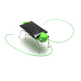 Wholesale Mini Plastic Solar Power Toy Grasshopper Solar Toy for Kids Children Educational Robot Scary Insect Gadget Trick Novelty Toy