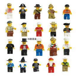 20PCS Movie building blocks action figures toys Random Santa Police Men Minifigure bricks toys for children
