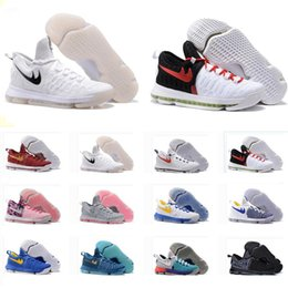 Wholesale 2016 Kd Basketball Shoes Sneakers Runing Kevins Kd VIIII Lowe Elite Blue Durant Men s Athletic Kd Training Sneakers Size