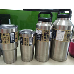 Wholesale Yeti Rambler Tumbler Bottle oz oz oz Stainless Steel YETI Rambler Tumbler Cup Double Wall Bilayer Vacuum vs oz oz oz
