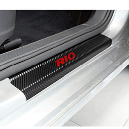 Wholesale Decoration Scuff Plate Door Sill Carbon Fibre Sticker Car Accessories For KIA RIO K2 Sedan Hatchback