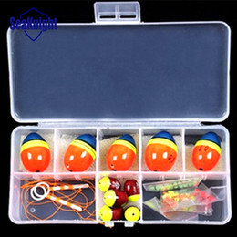 buena pesca Rebajas Venta al por mayor- Mixed Size Ball Mar flota para la pesca Orangered Float kits Snap Box Pesca Accesorios 0.5 0.8 1.0 1.5 2.0 Buena Calidad