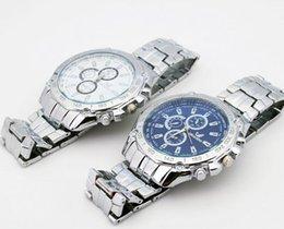 Wholesale Fashion Business Stainless Watchband Quartz Men Watch Three Eyes Six Pin Movement Anti Shock Anti Magnet Life Waterproof Wristwatch